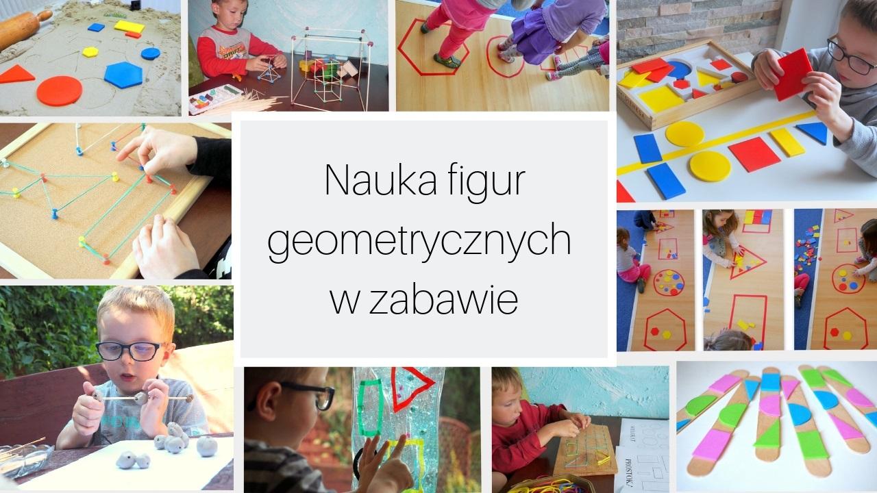 Nauka figur geometrycznych w zabawie