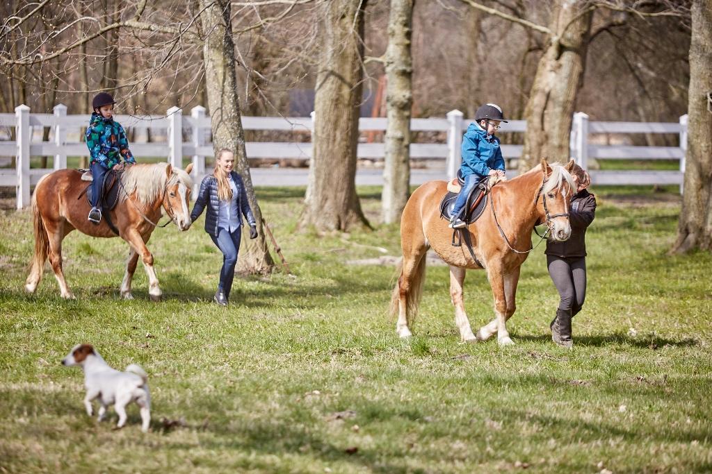 slow life, blog parentingowy, dzieci na koniach