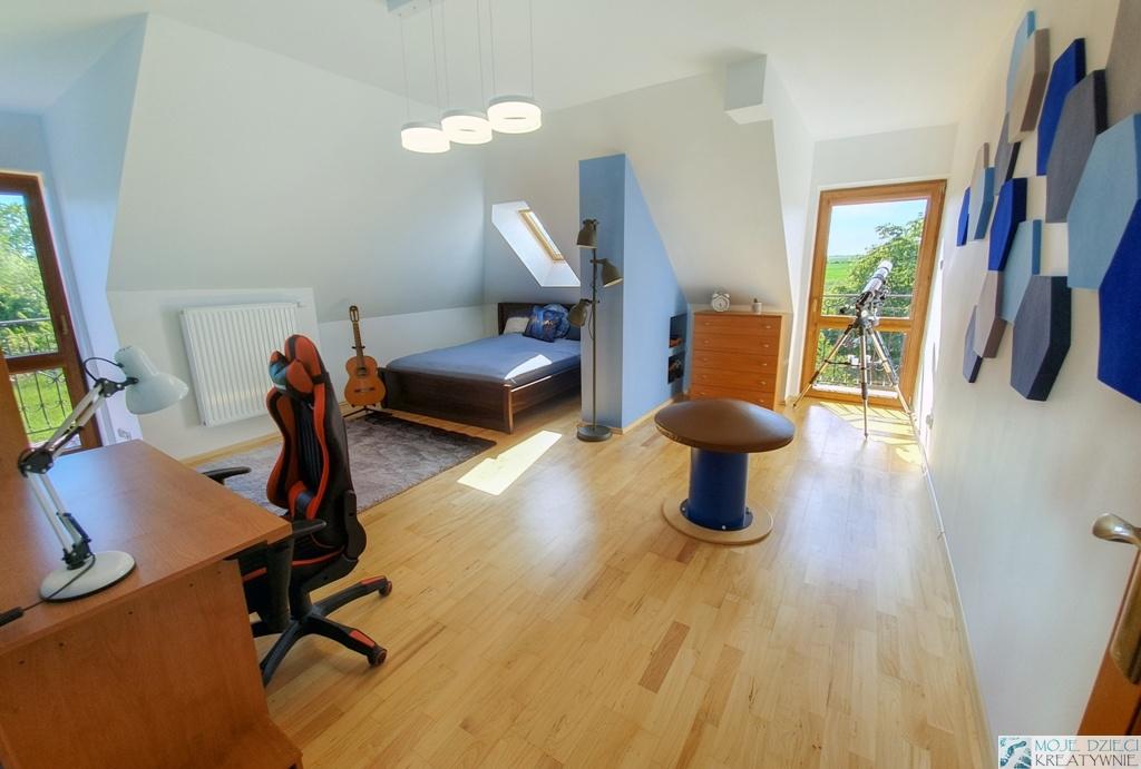 pokoj dla ucznia, pokoj ze skosami, pokój ze skosami aranżacje, pokój ze skosami jak urządzić