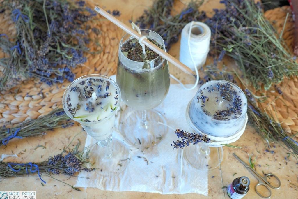 jak zrobic swieczke z suszonymi kwiatami