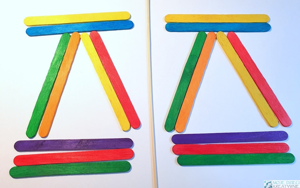 kreatywne zabawy z kolorowymi patyczkami