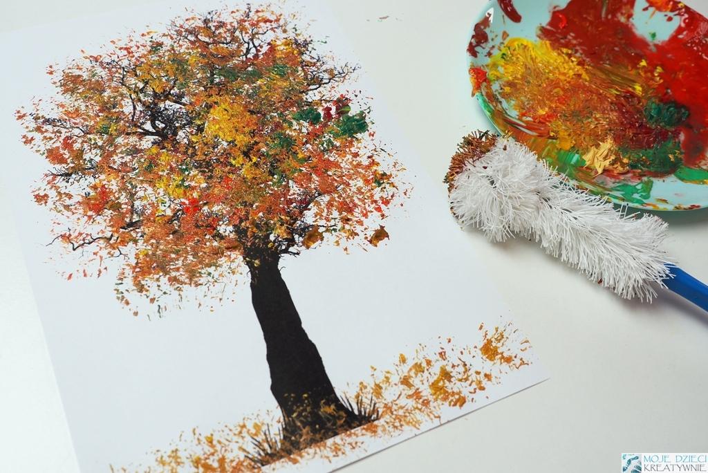 jesienne drzewo praca plastyczna