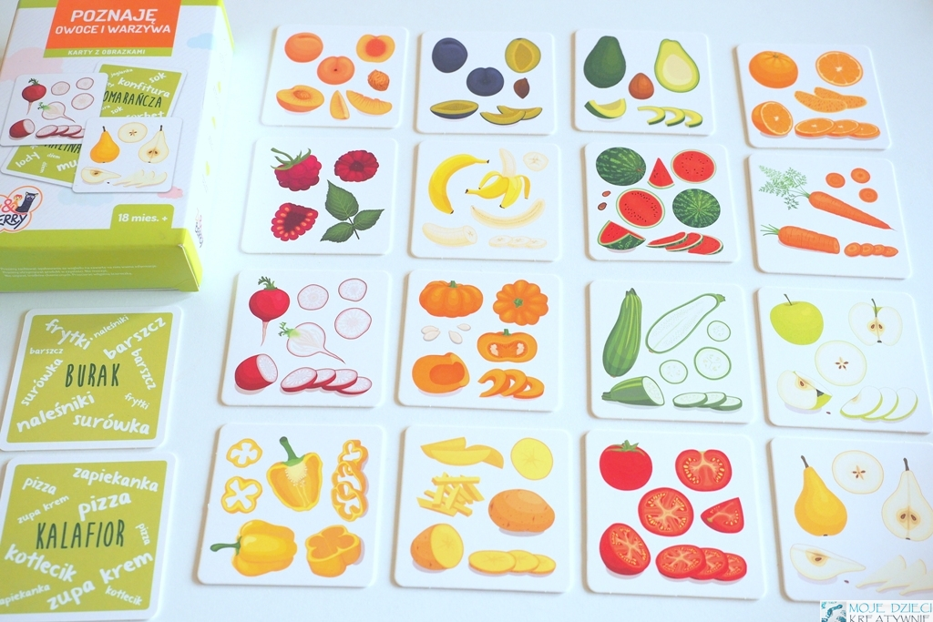 gra z owocami i warzywami