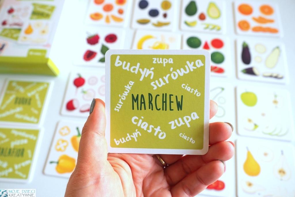 karty w owocami i warzywami zu&berry