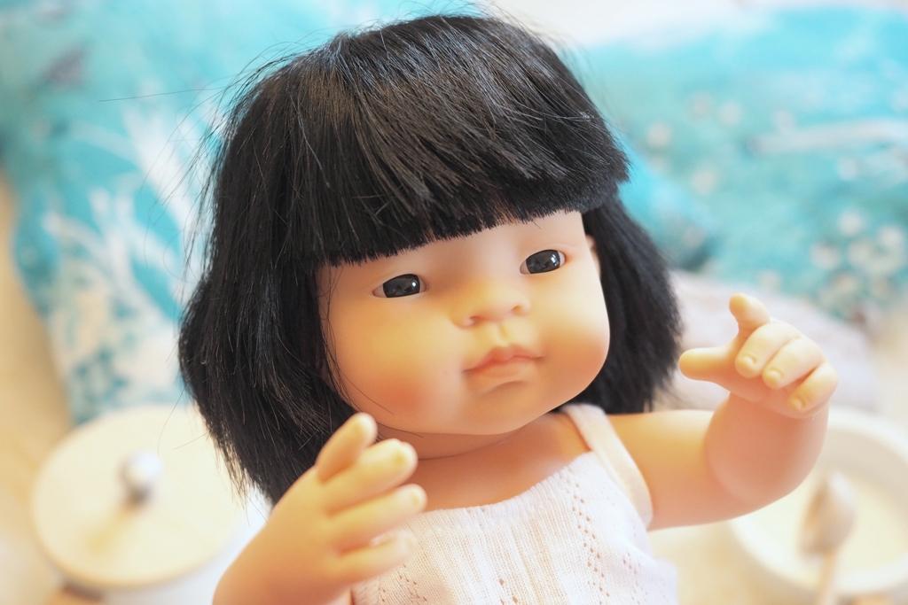 ladne lalki dla dziewczynek, lalka azjatka, lalka miniland, lalki anatomiczne
