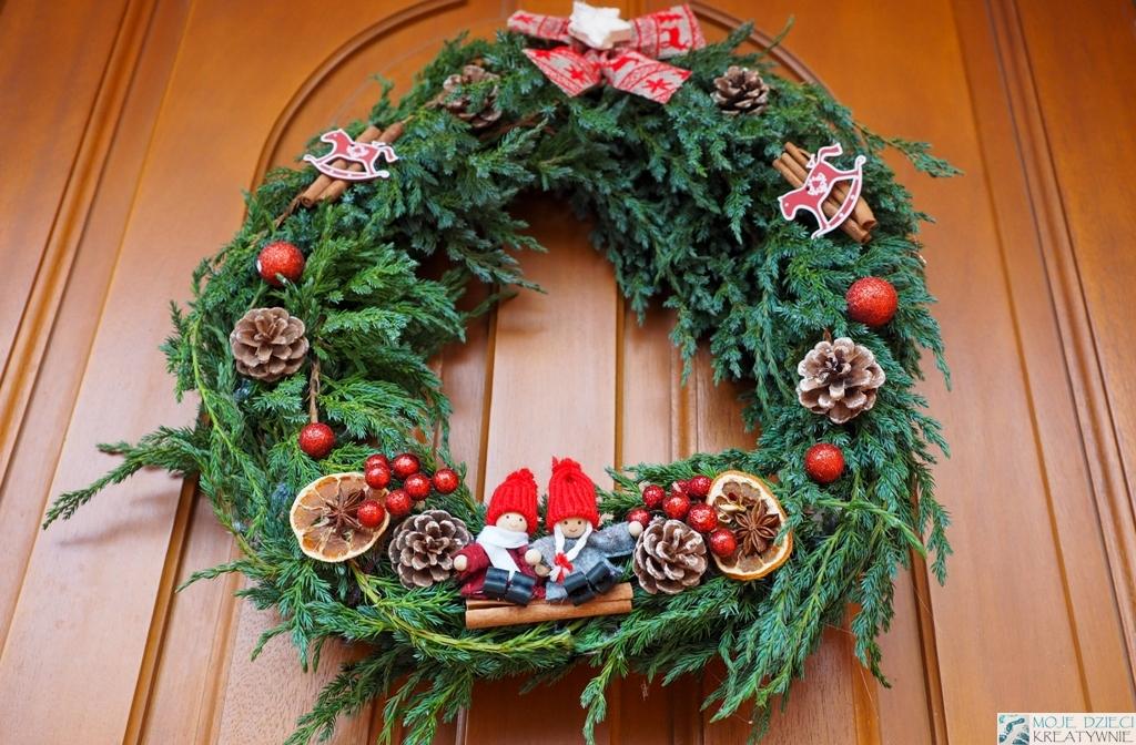 jak zrobiż wianek na drzwi, świąteczny wianek diy