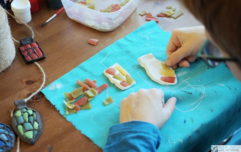 prace plastyczne z makaronu