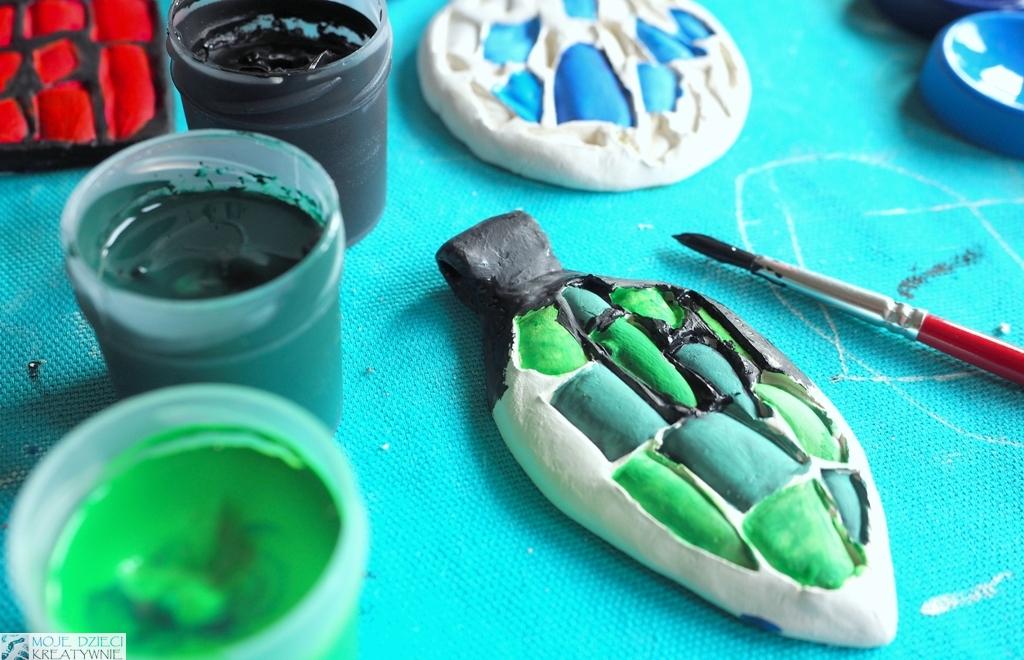 kreatywne prace plastyczne, medaliony