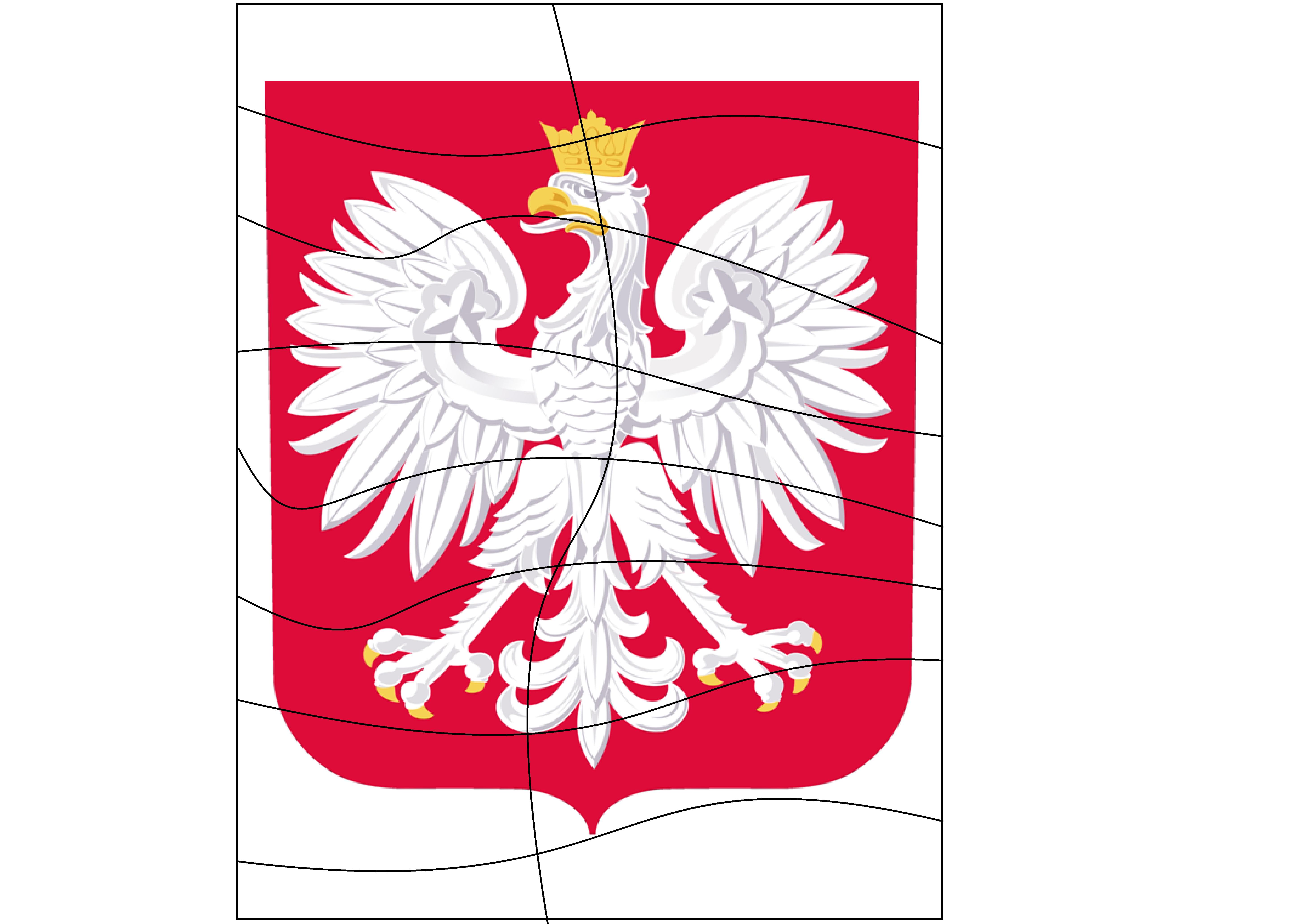 karty pracy 3 maja, symbole narodowe do druku, godło polski układanka, puzzle