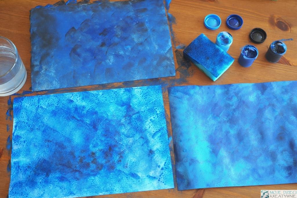 jak namalować niebo, kreatywne prace plastyczne