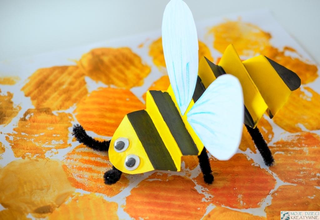 pszczoła praca plastyczna z papieru