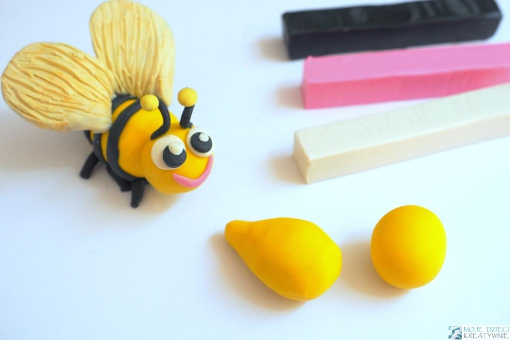 pszczoła praca plastyczna, pszczoła z plasteliny, pszczoła praca przestrzenna, pszczoła 3d, figurki z plasteliny, lepienie z plasteliny krok po kroku