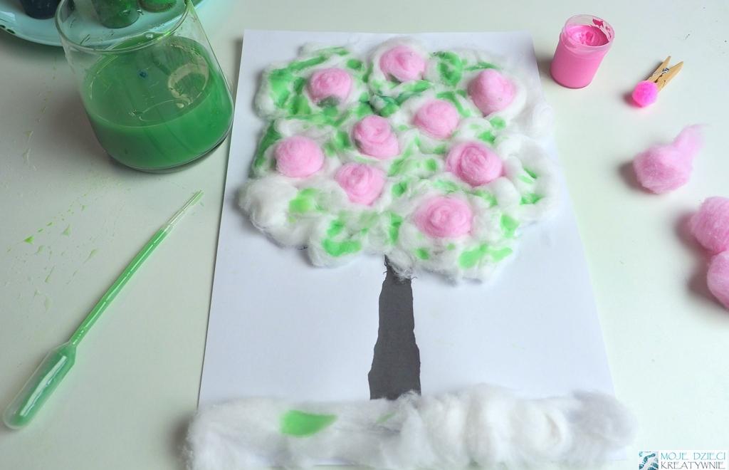 wiosenne drzewko, drzewko praca plastyczne, ciekawe prace plastyczne dla dzieci