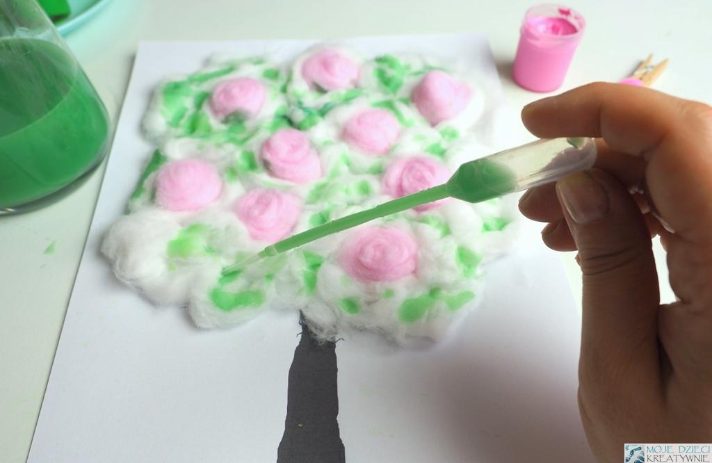 Wiosenne prace plastyczne, zabawy plastyczne dla dzieci