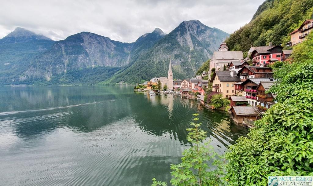 hallstatt, austria, podróż samochodem w Alpy