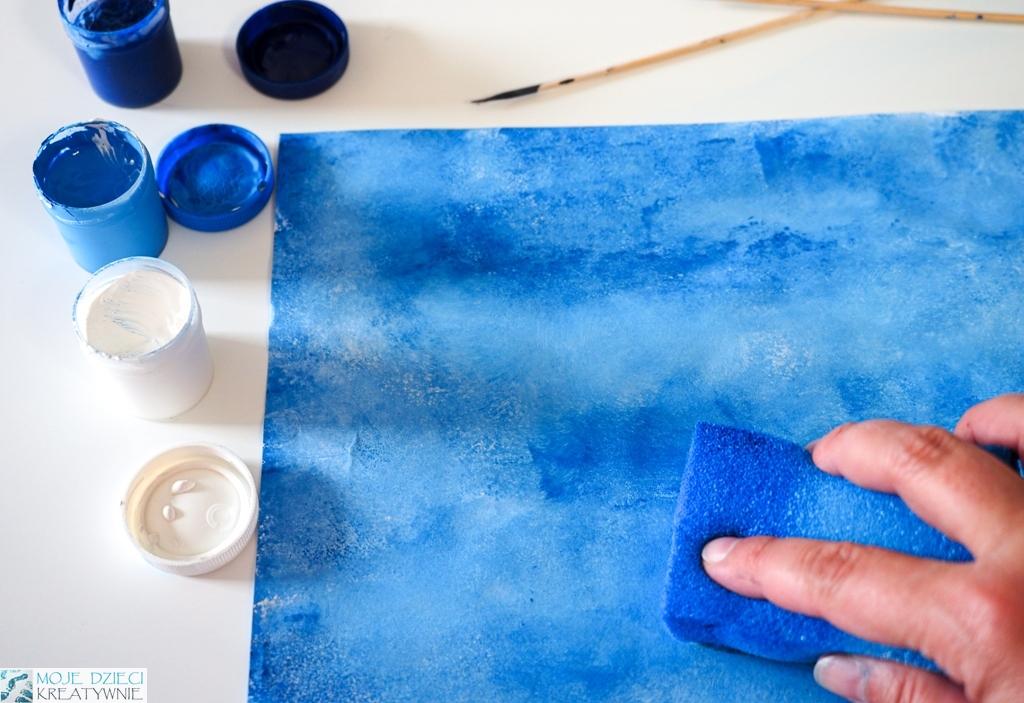 jak namalować niebo, ciekawe prace plastyczne