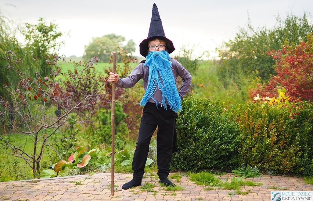 pomysły na przebrania dla dzieci, jak zrobic strój czarodzieja, przebrania dla dzieci zrób to sam, moje dzieci kreatywnie
