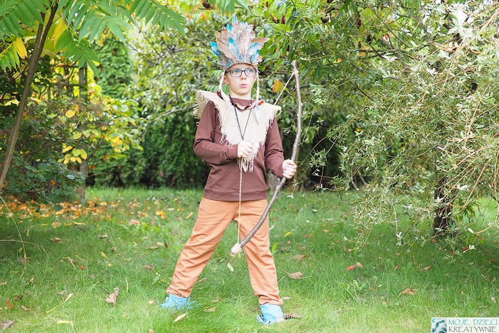 strój indiański, strój indianina, przebranie indianin, pomysły na przebrania dla dzieci, przebranie dla chłopca, moje dzieci kreatywnie