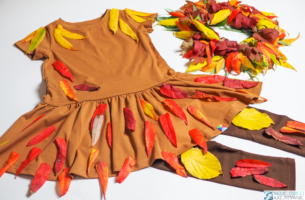 przebranie pani jesień, bal jesieni, jak zrobic jesienny strój, przebranie za panią jesień