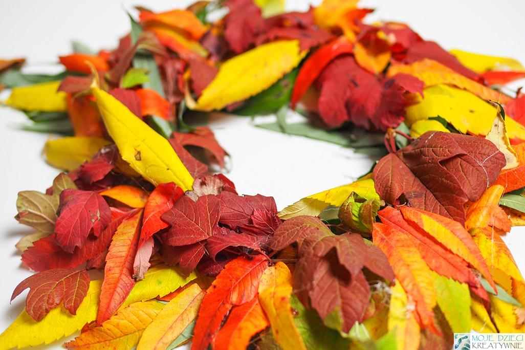 wianek jesienny, jesinny wieniec krok po kroku, jak zrobić jesienny wieniec na drzwi