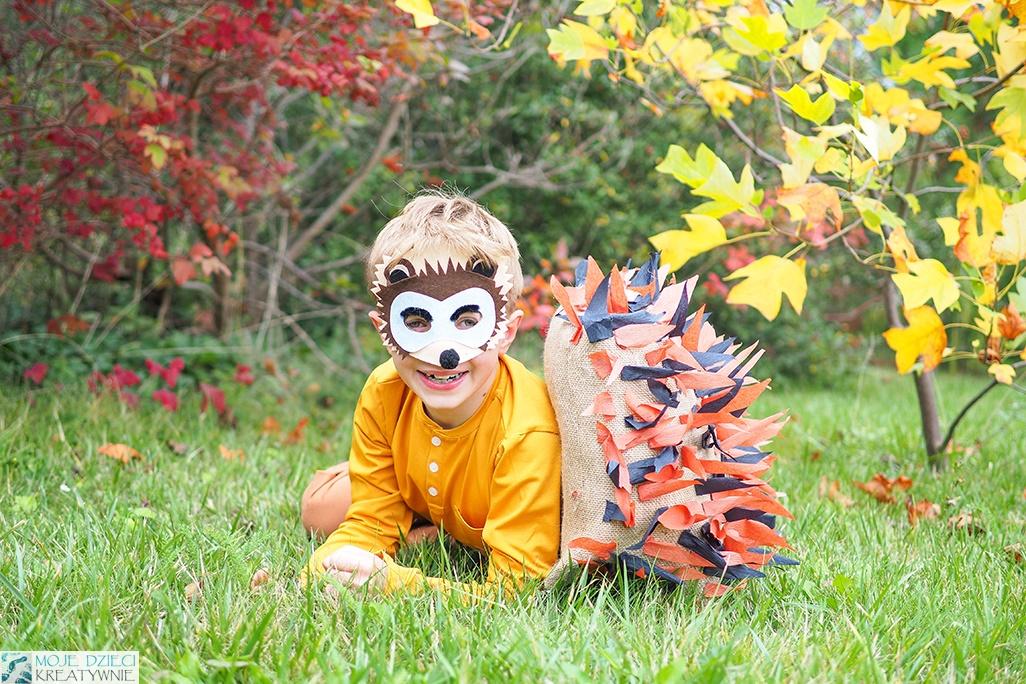 jeżyk przebranie, strój jeża, jak zrobić strój dla jeżyka, moje dzieci kreatywnie