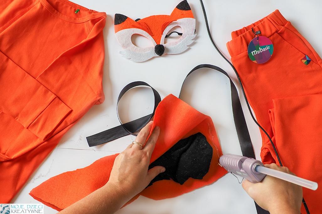 przebranie za liska, strój liska, lis przebranie, strój lisa, zrób to sam, pomysł na przebrania dla dzieci do samodzielnego wykonania.