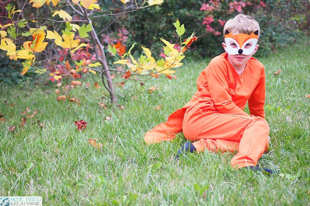 lis przebranie dla dziecka, maska lisa, lisek strój, jak zrobic przebranie dla dziecka, pomysły na przebrania dla dzieci