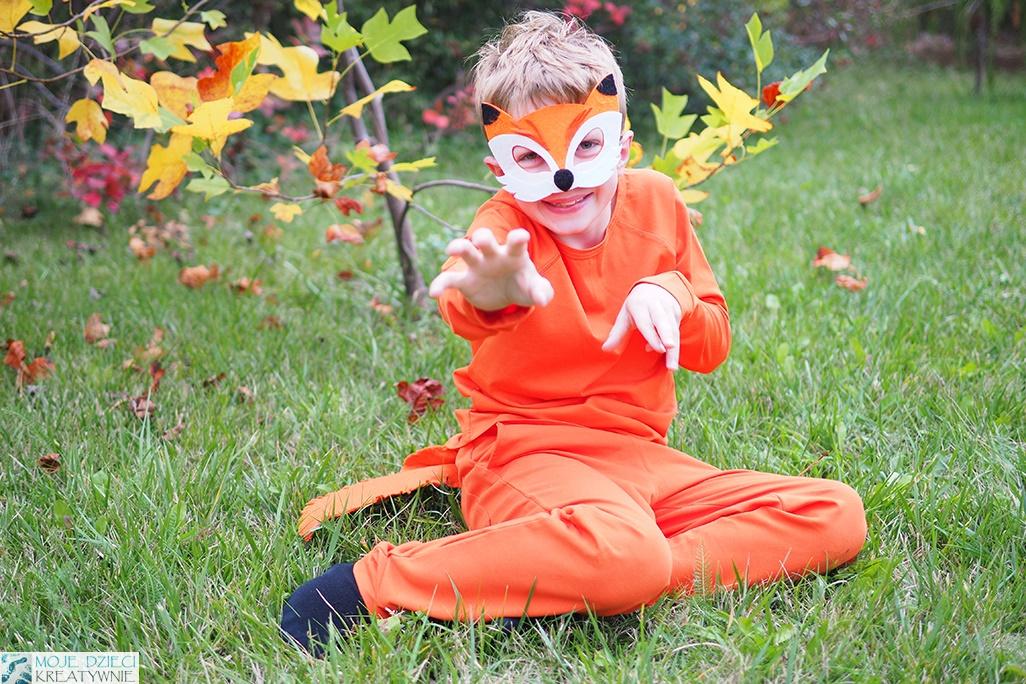 maska lisa, lisek, strój lisa, przebranie liska dla dziecka, pomysły na przebrania dla dzieci, zrób to sam, moje dzieci kreatywnie