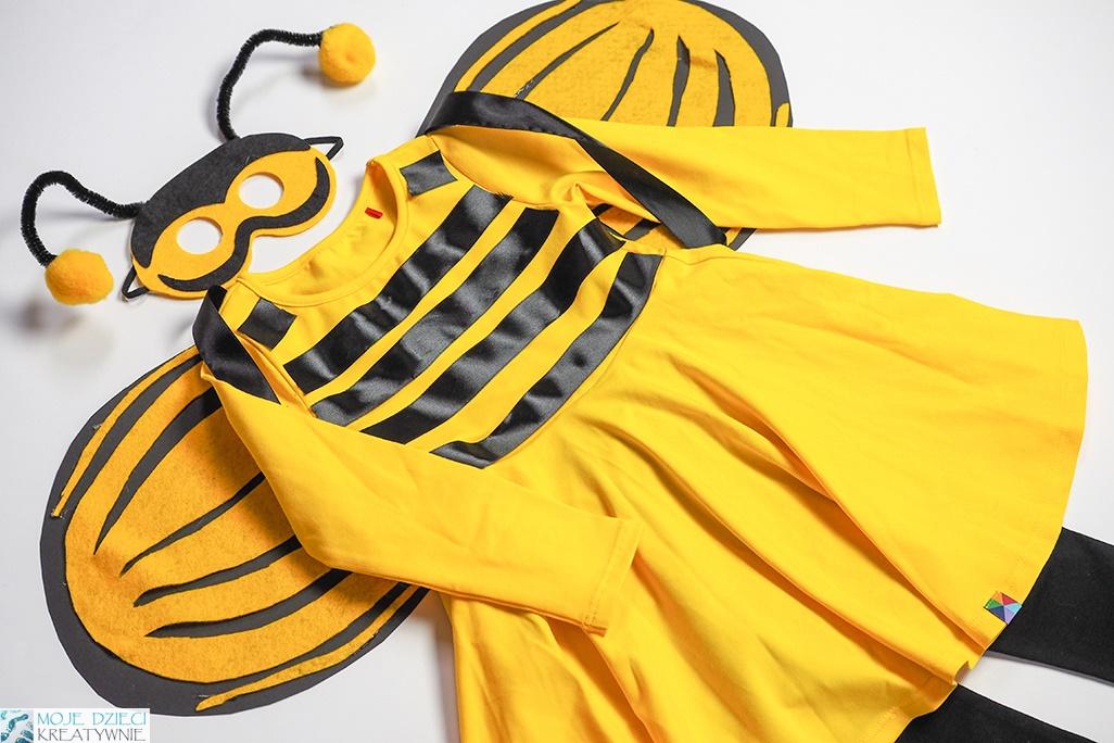 pszczółka przebranie, strój pszczółki, jak zrobic przebranie pszczółki, przebranie pszczoła
