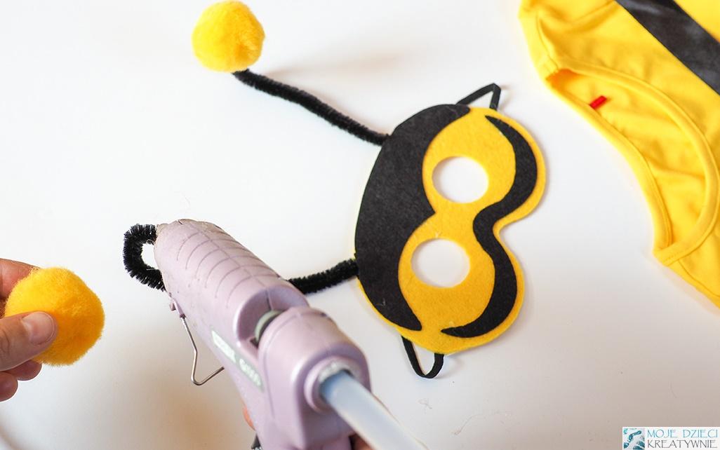 maska pszczółki, pszczoła maska, jak zrobić strój pszczoły dla chłopca