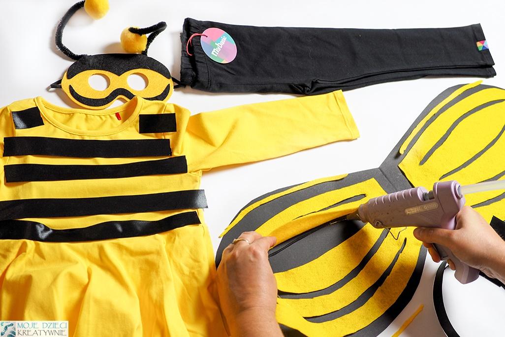 jak zrobić skrzydła pszczoły, stroje dla dzieci do samodzilnego wykonania, przebranie za pszczołę zrób to sam