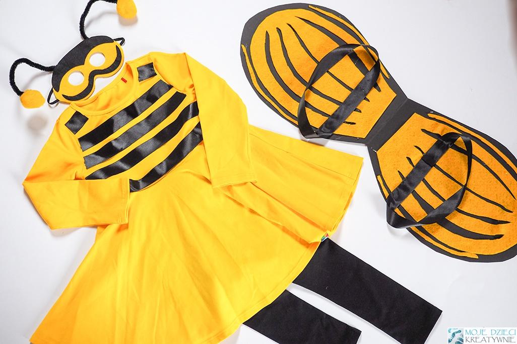 przebranie pszczółki, przebranie za pszczółkę, jak zrobić strój pszczółki, strój pszczoły, przebrania dla dzieci