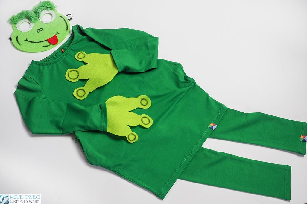 Przebrania dla dzieci, strój żabki, przebranie za żabkę, pomysły na przebrania dla dzieci, jak zrobić samodzielnie przebranie dla dziecka