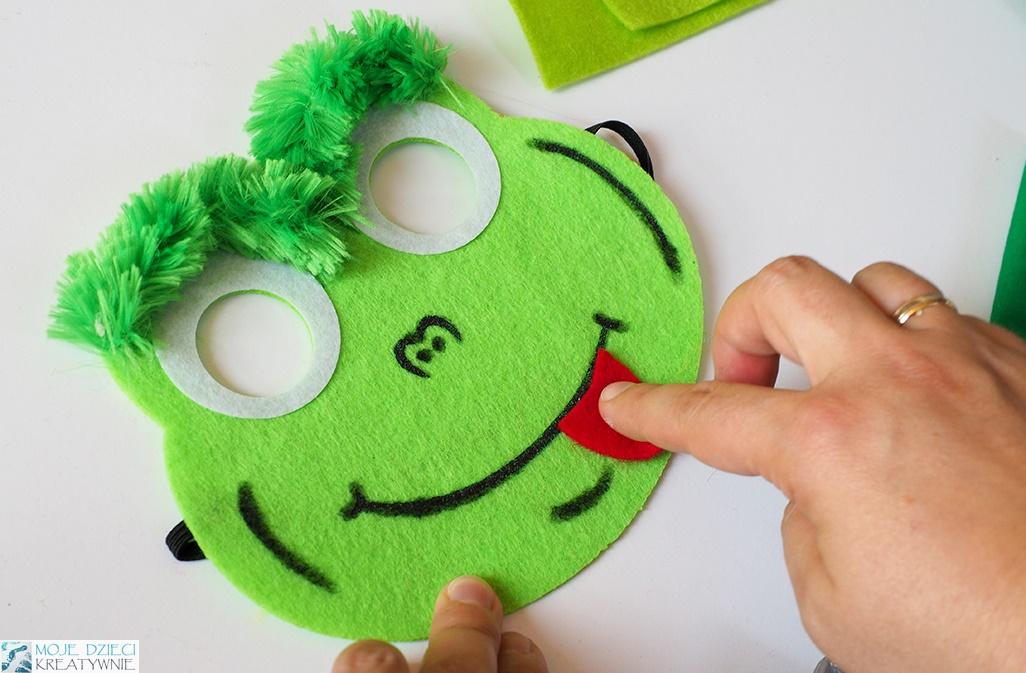maska żayby, szablon maski żaby, jak zrobić przebranie żaby, żabka maska