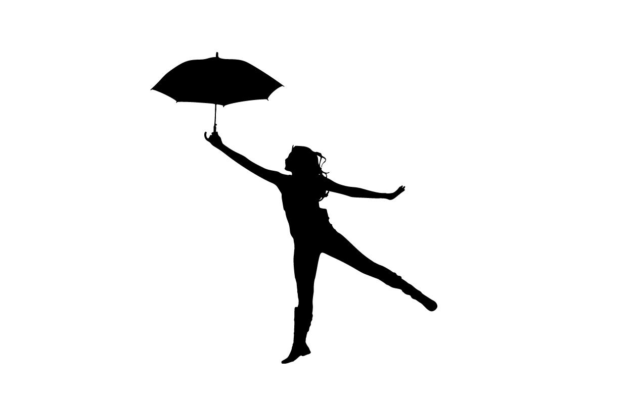 kobieta, dziecko, postać, szblon postaci z parasolem do wydruku
