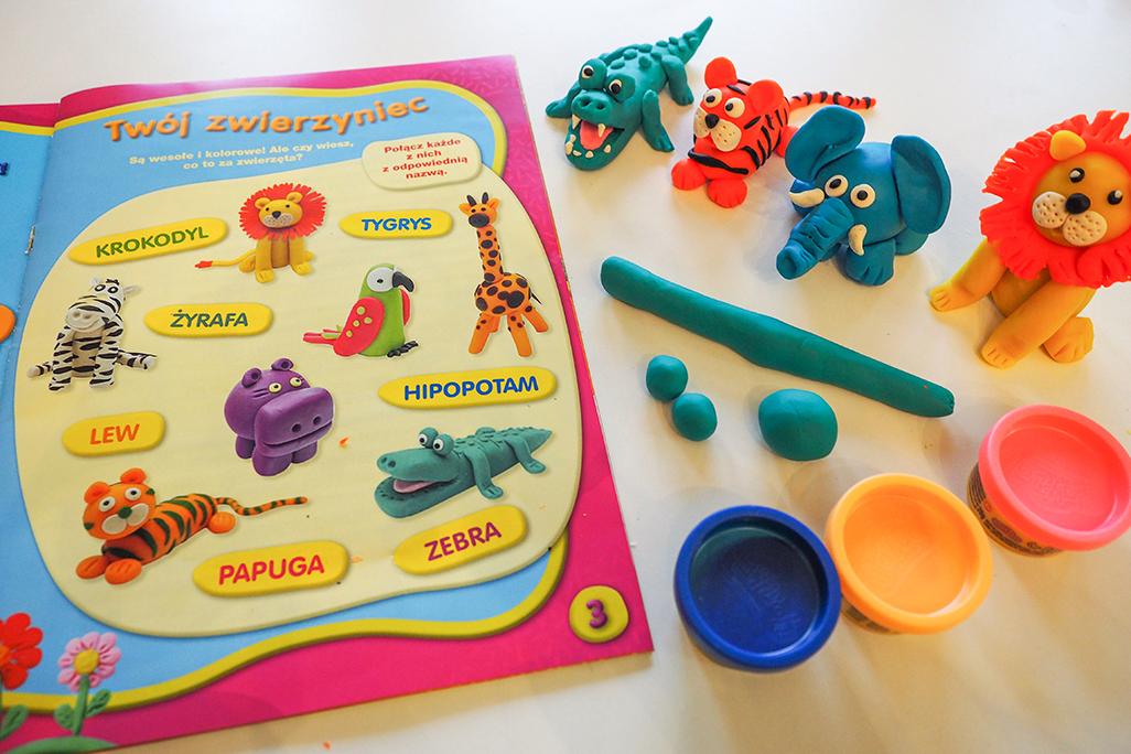 pomysły na zwierzątka z masy play doh i plasteliny