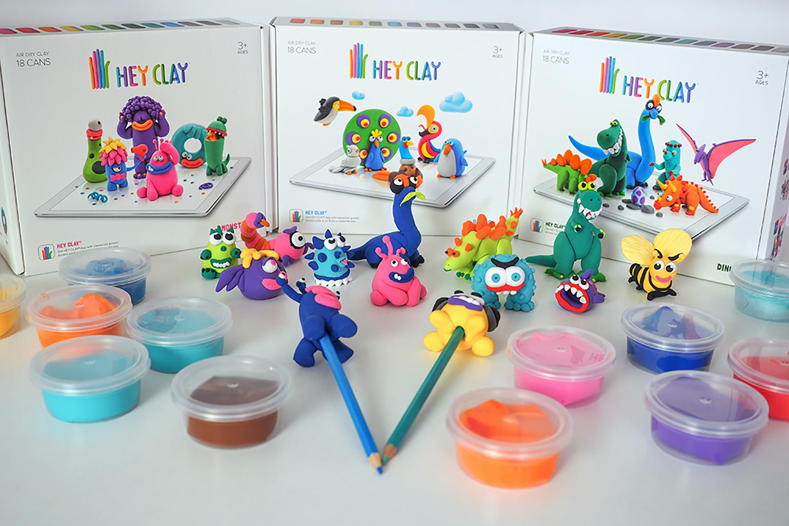 figurki z plasteliny, zwierzątka z plasteliny, hey clay, masa plastyczna samoutwardzalna, masy plastyczne dla dzieci
