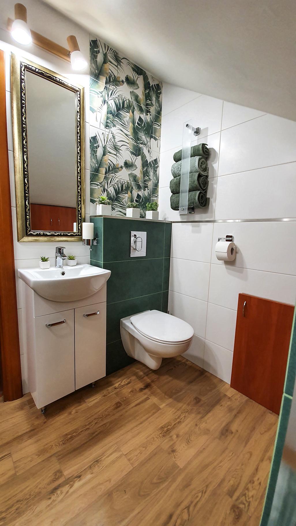 łazienka inspiracje, pomysły na małą łazienkę, burano green, tubadzin, dekory do łazienki, metamorfoza małej łazienki.