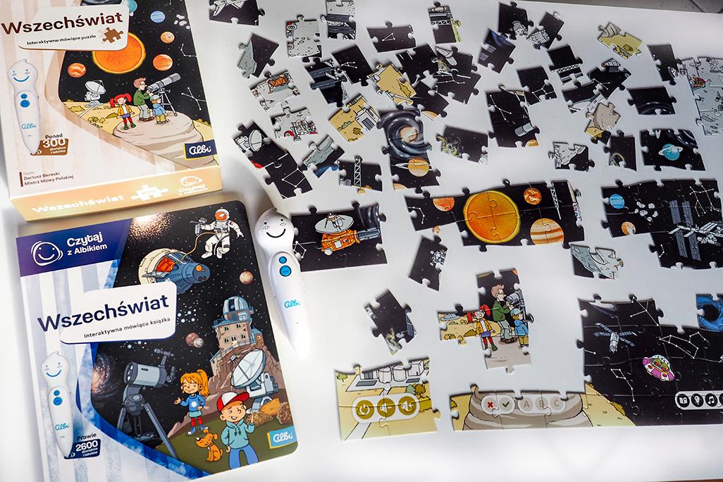 puzzle wchechświat, kosmos, planety, gwiazdy