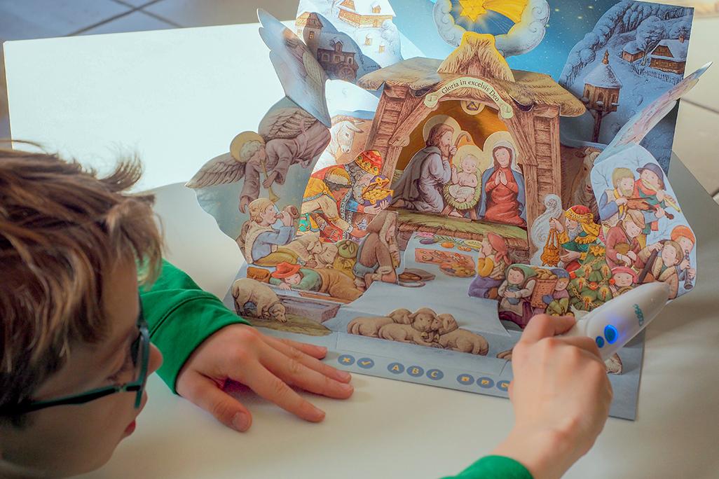 szopka bożonarodzeniowa 3d, czytaj z albikiem
