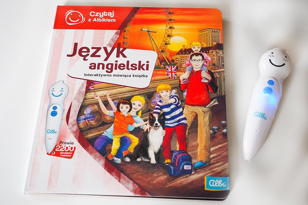 czytaj z albikim mówiące pióro, książka do nauki angielkiego dla dzieci