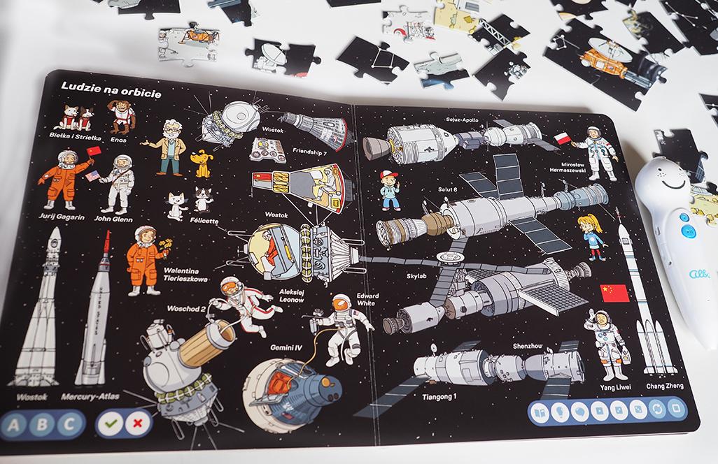 ludzie na orbicie, książka o kosmosie dla dzieci, wszechświat, czytaj z albikiem