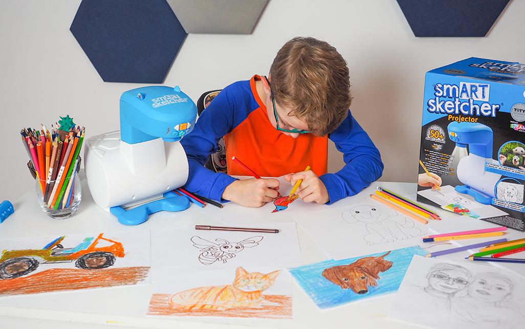 nauka rysowania krok po kroku dla dzieci z projktorem smart sketcher