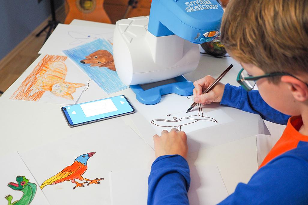 nauka rysowania krok po kroku z projketorem smart sketcher, rysownie zwierząt dla dzieci