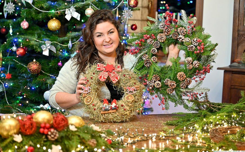 Jak zrobić wieniec świąteczny, wieniec na Boże Narodzenie, wianek bożonarodzeniowy