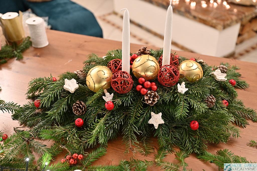 stroik świąteczny na boże narodzenie, stroik na wigilijny stół, jak zrobic stroik film