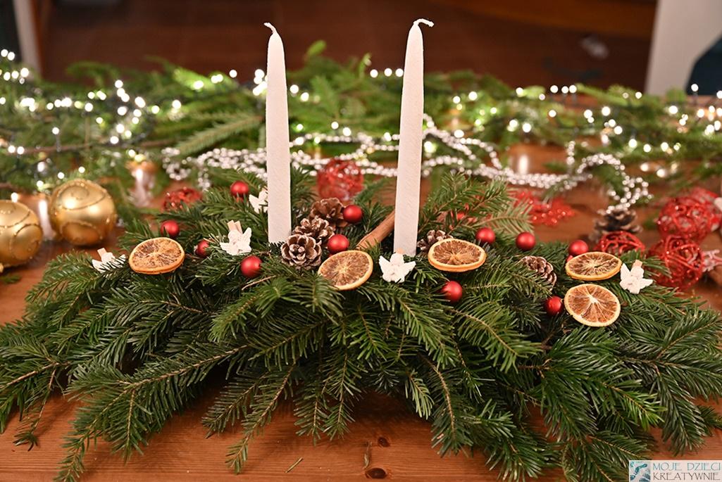 jak zrobić stroik na boże narodzenie, stroik świąteczny, stroik na stół