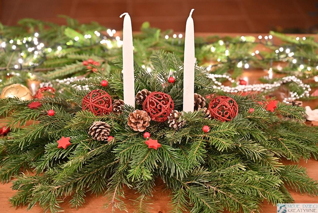 dekoracje świąteczne do samodzielnego wykonania, stroiki na święta bożego narodzenia