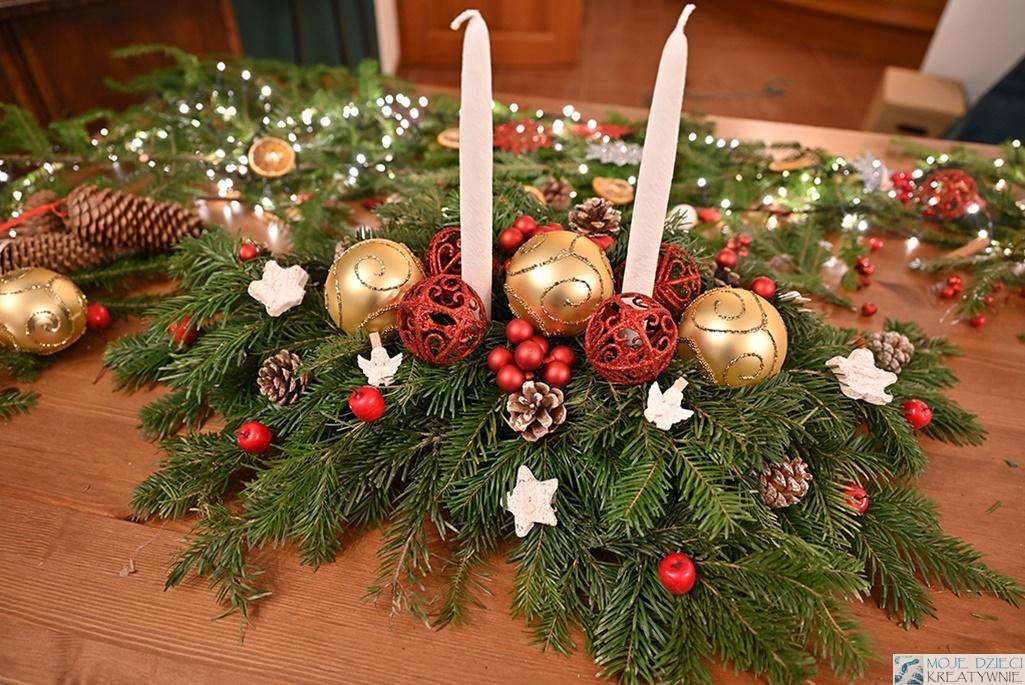 jak zrobić stroik świąteczny na stół, stroik bożonarodzeniowy, stroik na boże narodzenie, dekoracje świąteczne diy