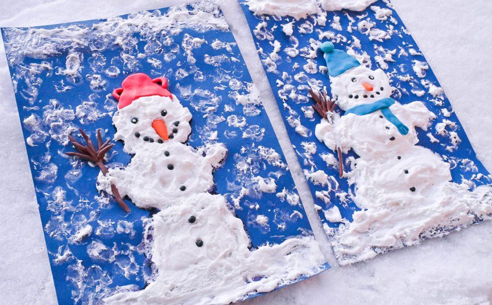Praca plastyczna zima, prace plastyczne zima, bałwake 3d, przestreznna praca plastyczna, piankowy bałwanek